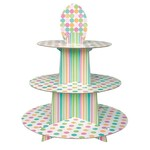 """Cupcake Stand for 24 Cupcakes-Baby Dots-1pkg-11.75""""x1.25ft"""