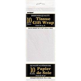 """Tissue Gift Wrap-White- 10 Sheets (20""""x26"""" Each)"""