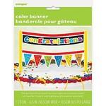 "Cake Banner- Congratulations (6.5""x5.75"")"