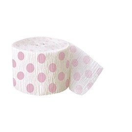 Streamer-Lovely Pink Dots-30Ft-Paper