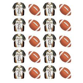 Stickers-Football Fanatic-4 Sheets