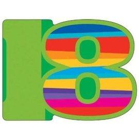 Invitations-18 Birthday Stripe-8pk