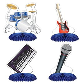 Centerpiece Kit-Honeycomb-Band Playmates-4pkg-4.5""