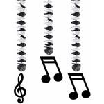 Danglers- Music Note-50's Rock -3pk/30''