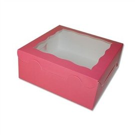 Cake Box-Window-Pink-10''x10''x4''