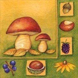 Napkins-LN-Mushrooms & Friends-20pkg-3ply (Discontinued)