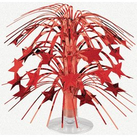 Cascade Centerpiece- Red-Foil-8.5''