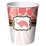 Paper Cups-Wild Safari Pink-8pkg-9oz - Discontinued