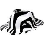 Fedora-Totally 80's Zebra Print-Plastic