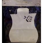 Favor Pillow Boxes- Ivory Glitter Rose- 3pk