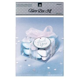 Favor Box Kit- Clear- 50pk