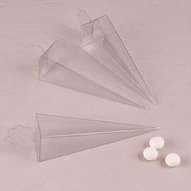 Favor Boxes-Clear Cone-10pkg-6""