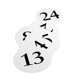 Table Numbers-Round-13~24-12pk/5''