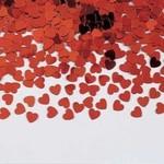 Confetti - Metallic Red Hearts -14g