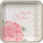 Plates-DN-Antique Bridal Shower-8pkg-Paper (Discontinued)
