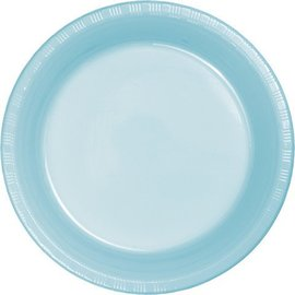 Plates-BEV-Pastel Blue-20pkg-Plastic