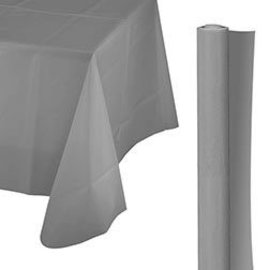 Tablecover Roll-Silver-100Ft-Plastic
