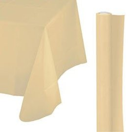 Tablecover Roll-Vanilla Creme-100Ft-Plastic
