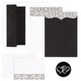 Invitation Kit-Black and White-25pk