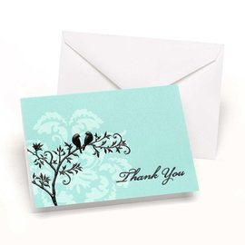 Thank You Cards-Perched Birds-50pk