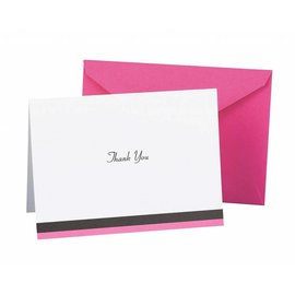 Thank You Cards-Pink Trim-50pk