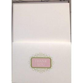 Thank You Cards-Wedding-Decorative Design-50pk