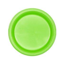 """Plates-BEV-Kiwi-Plastic - 20pk - 7"""""""