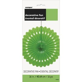 """Hanging Decorations-Decorative Fan-Lime Green-Paper-16"""""""