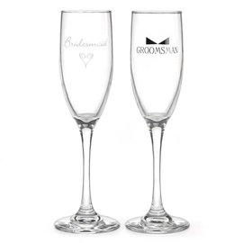 Champange Glasses-Bridal Party-2pk/9''