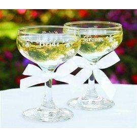 Champagne Glasses-Bride&Groom