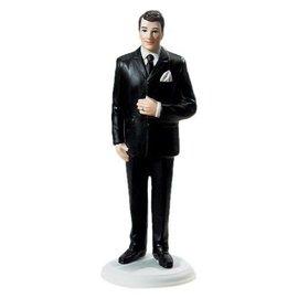 Cake Topper-Big & Tall Caucasian Groom-1pkg-14cm