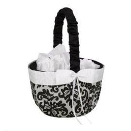 Basket-Black and White Enchanted Evening-8'' x 6''