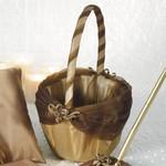 "Flower Girl Basket-Bronze and Brown-1pkg-10"""
