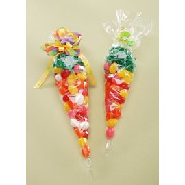 """Cone Gift Bags- Clear- 20pcs (12"""")"""