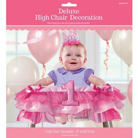 High Chair Decor-1st Bday Girl-Deluxe