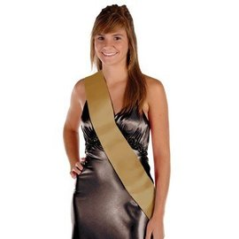 Satin Sash-Customizable-Gold-One Size Fits Most-1 Count
