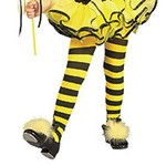 Costume Accessory-Bumble Bee Tights-Toddler Size