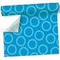 Airlaid Table Runner- Aqua Circles (360cm x 40cm)