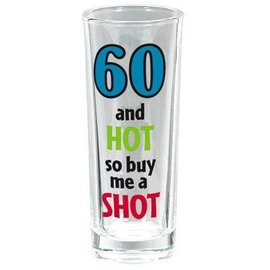 Shot Glass-Tall-60th Bday-3oz