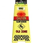 Floor Sign-lights Up-Caution-Old Zone