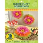 Decorations-Flower Fluffy-Tissue paper-16pk