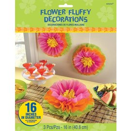 Decorations-Flower Fluffy-Tissue paper-16pk