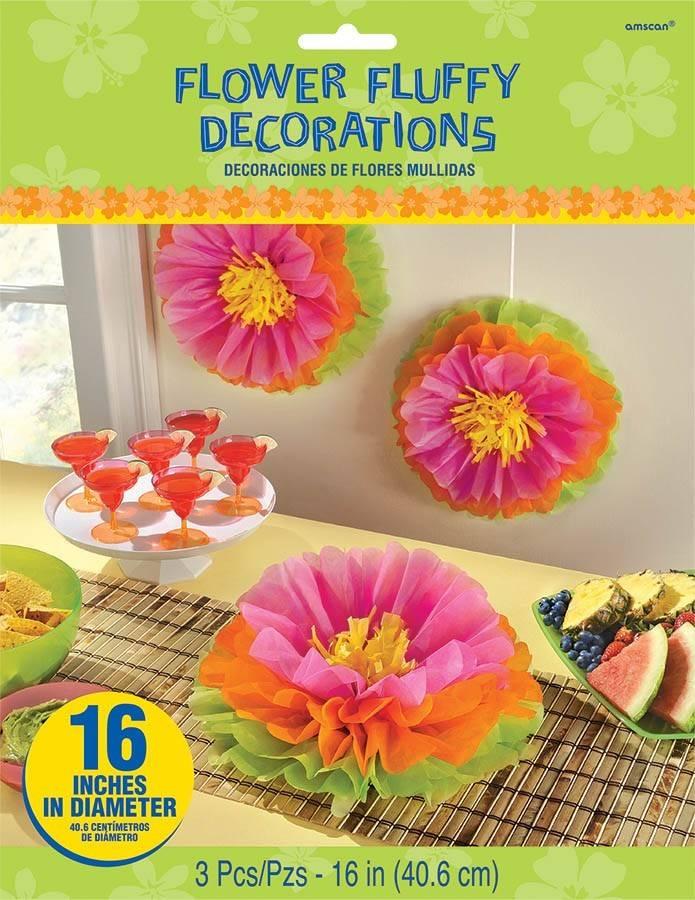 Decorations Flower Fluffy Tissue Paper 16pk