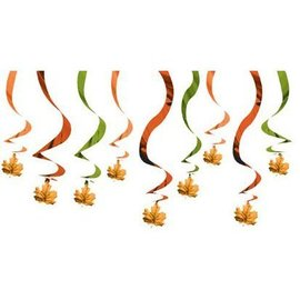 Danglers-Swirl Decor-Fall Leaves-15pk/24''