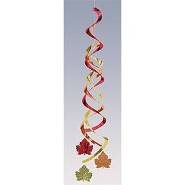 Danglers-Foil Swirl-Fall Leaves-2pkg-24""