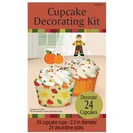 Cupcake Decor Kit-Fall-24pk