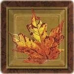 Plates-BEV- Golden Leaves-10pk-Paper
