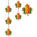 Hanging Stringer-Fall Leaves-1pkg-6.6ft