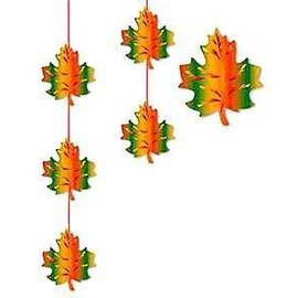 Hanging Stringer-Fall Leaves-1pkg-6.6ft