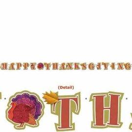 Banner-Happy Thanksgiving-Pilgrim Letter-9.5ft